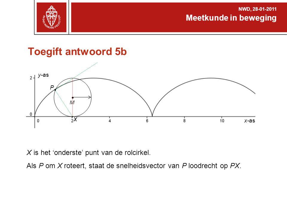Toegift antwoord 5b Meetkunde in beweging x