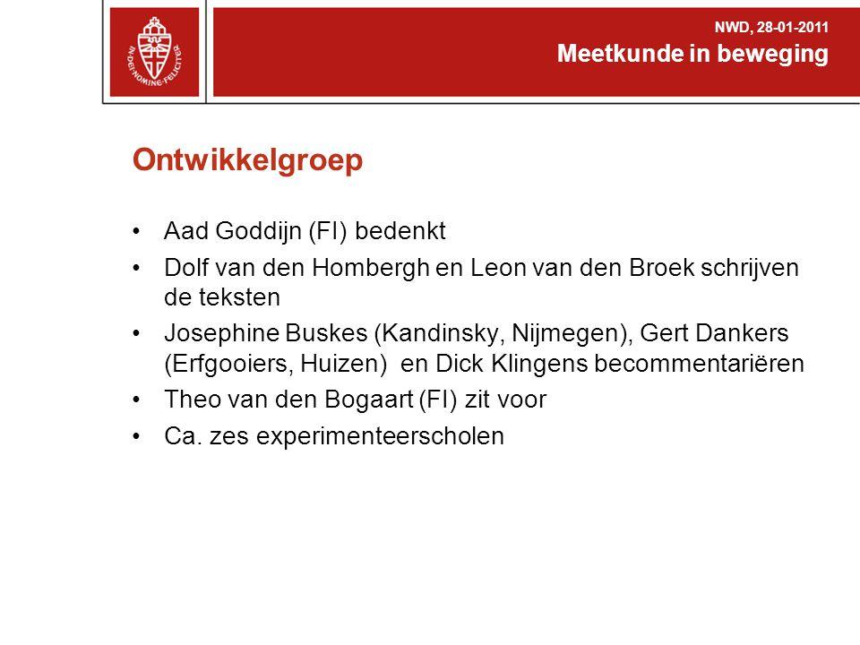 Ontwikkelgroep Aad Goddijn (FI) bedenkt