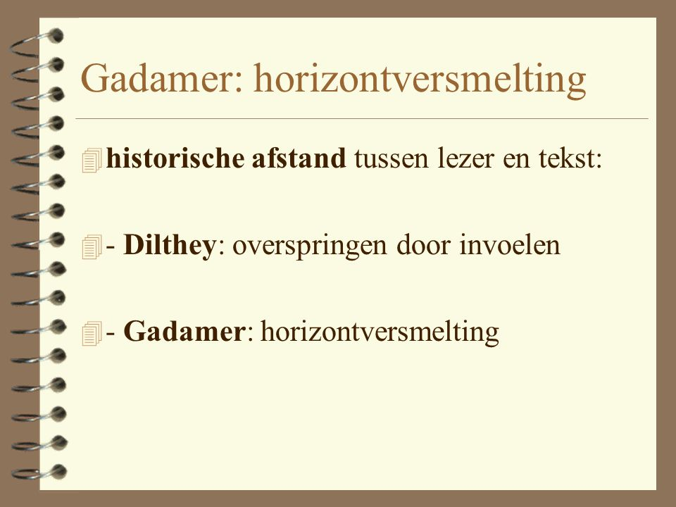 Gadamer: horizontversmelting
