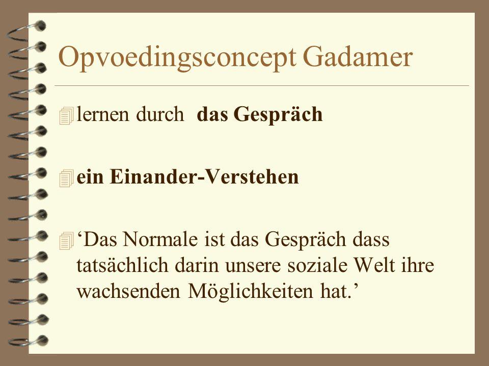 Opvoedingsconcept Gadamer