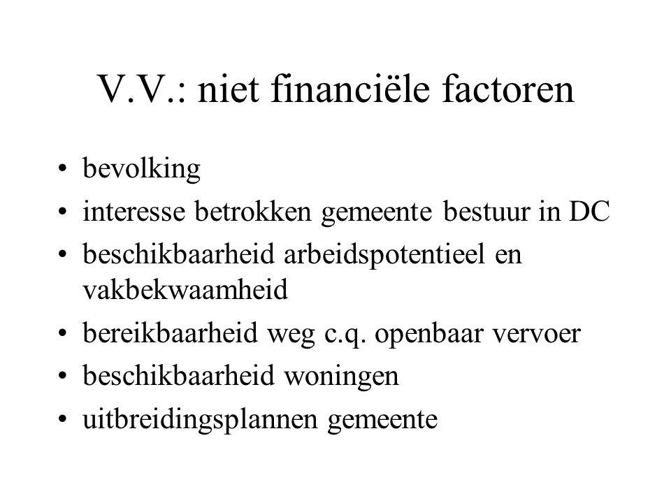 V.V.: niet financiële factoren