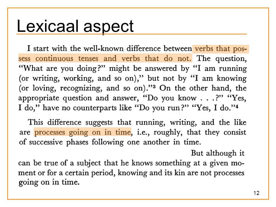 Lexicaal aspect