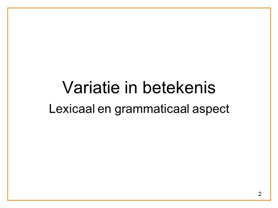 Lexicaal en grammaticaal aspect