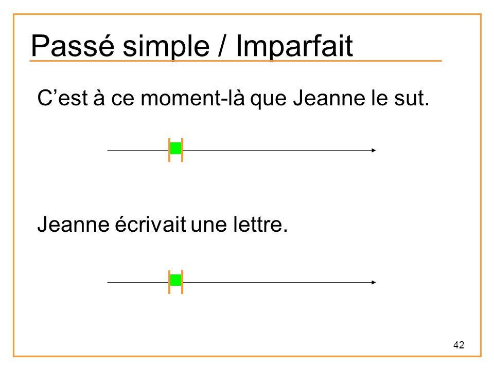 Passé simple / Imparfait