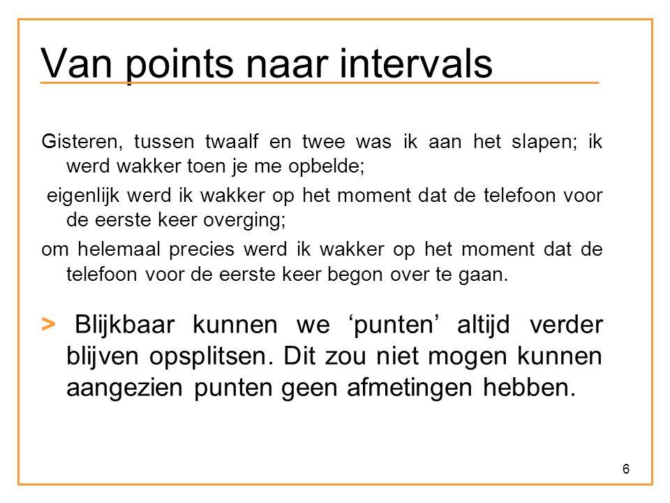 Van points naar intervals