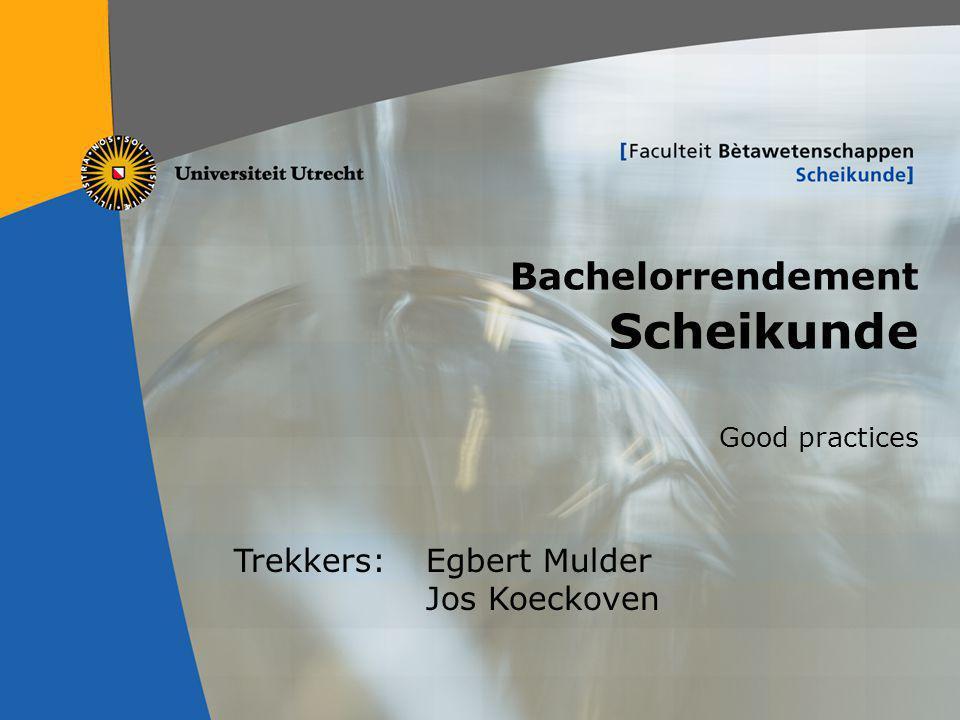 Bachelorrendement Scheikunde
