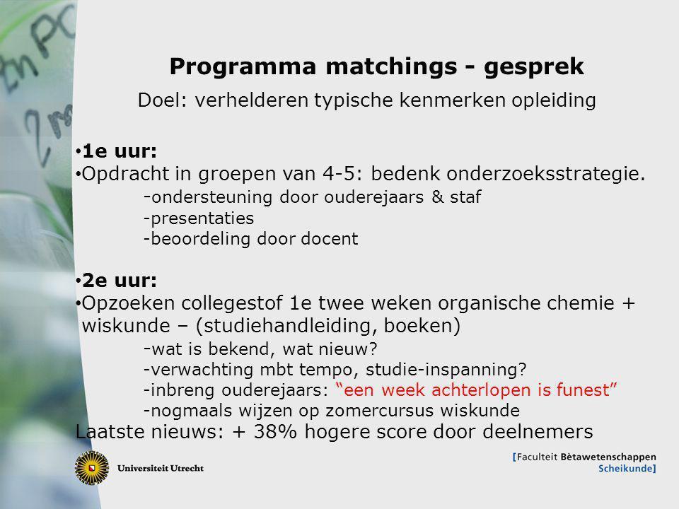 Programma matchings - gesprek