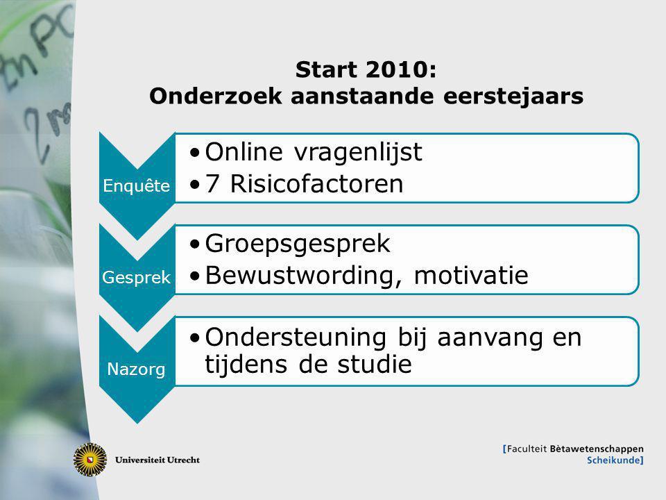 Start 2010: Onderzoek aanstaande eerstejaars