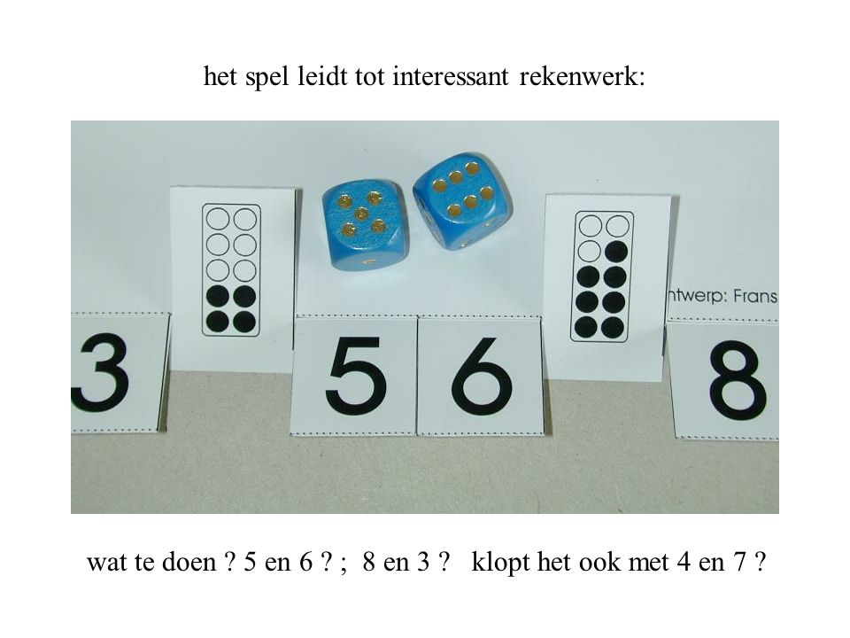 het spel leidt tot interessant rekenwerk: