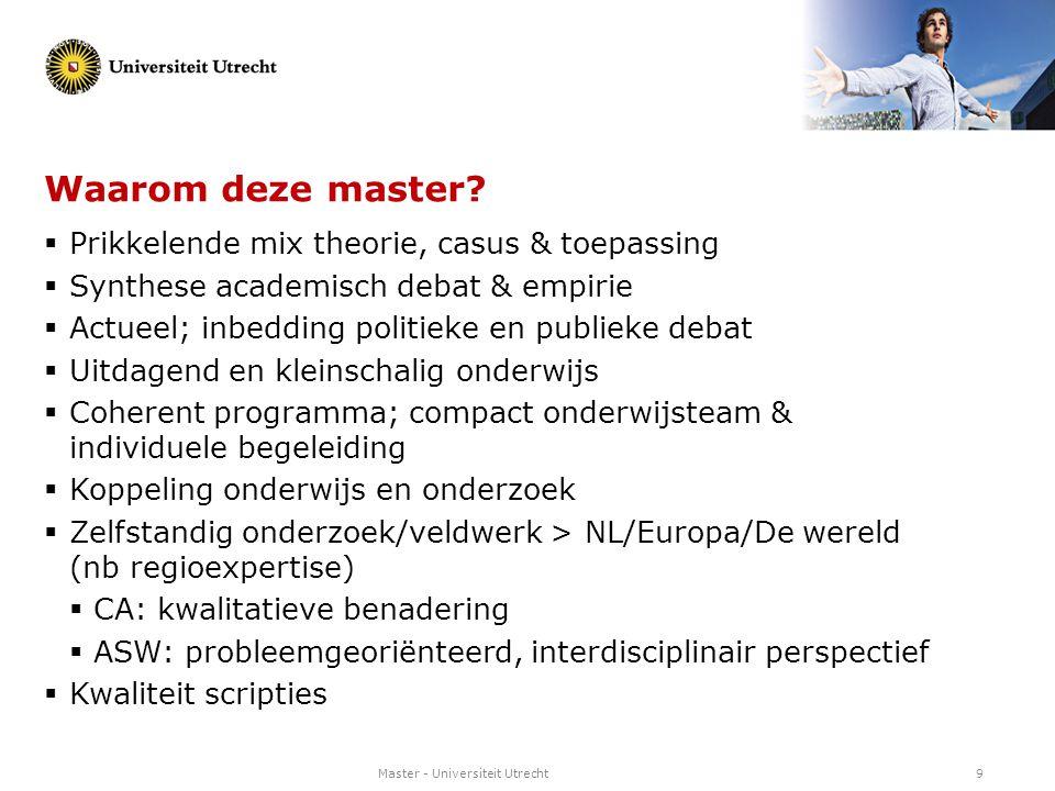 Waarom deze master Prikkelende mix theorie, casus & toepassing