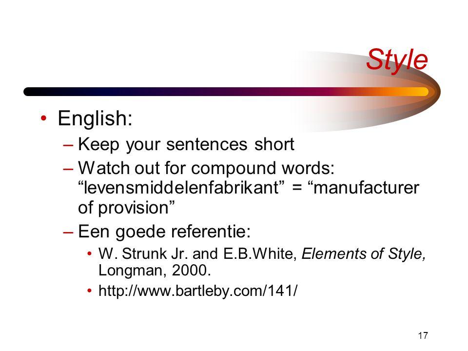 Style English: Keep your sentences short