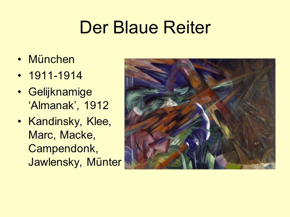 Der Blaue Reiter München 1911-1914 Gelijknamige 'Almanak', 1912