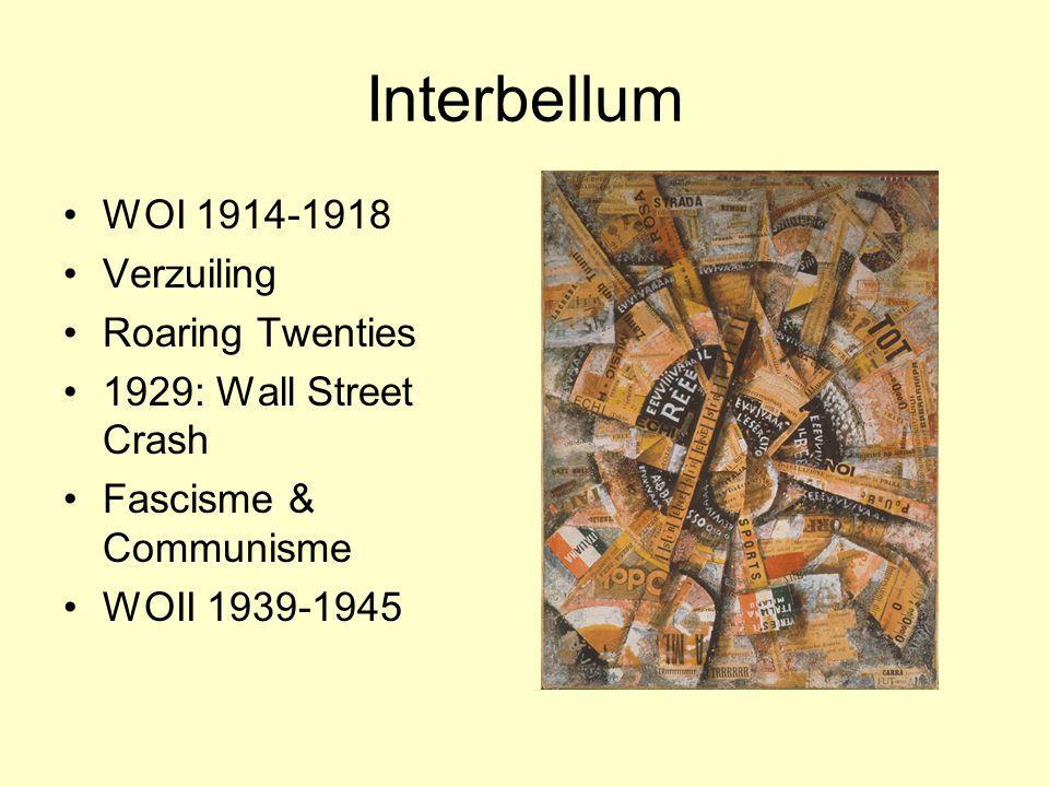 Interbellum WOI 1914-1918 Verzuiling Roaring Twenties
