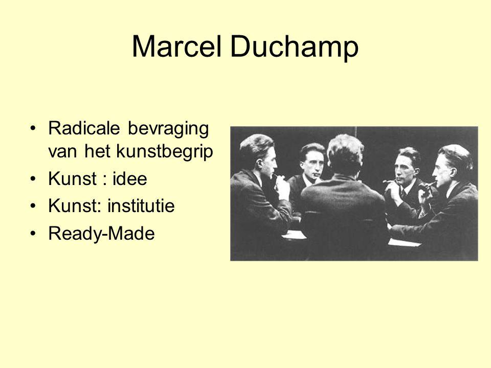 Marcel Duchamp Radicale bevraging van het kunstbegrip Kunst : idee