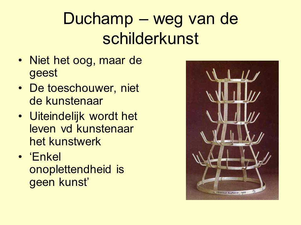 Duchamp – weg van de schilderkunst