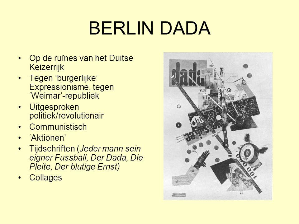 BERLIN DADA Op de ruïnes van het Duitse Keizerrijk