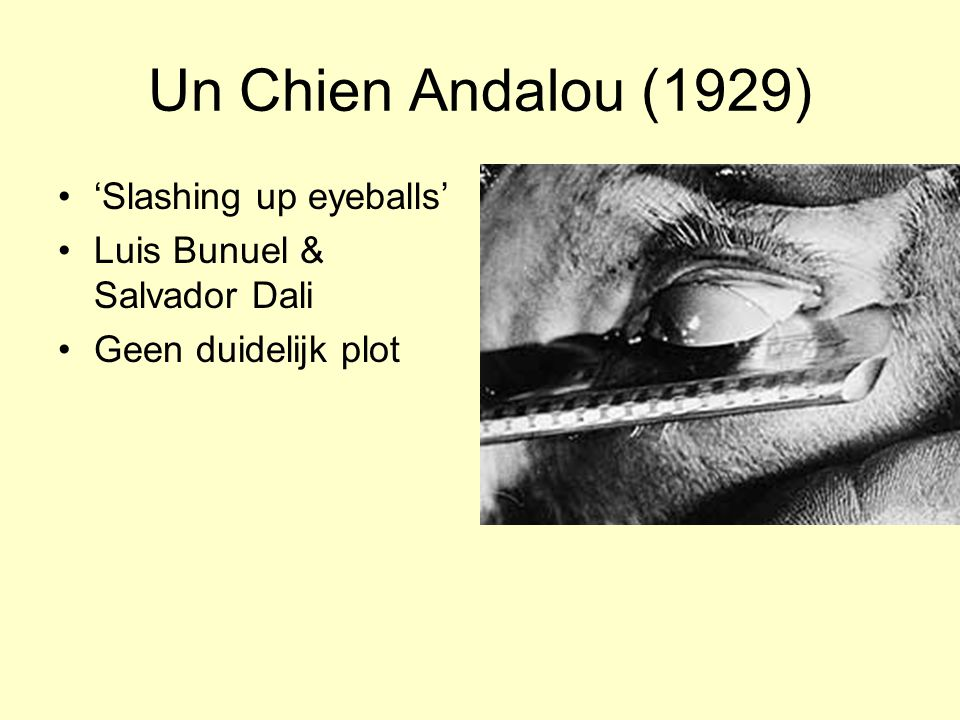 Un Chien Andalou (1929) 'Slashing up eyeballs'