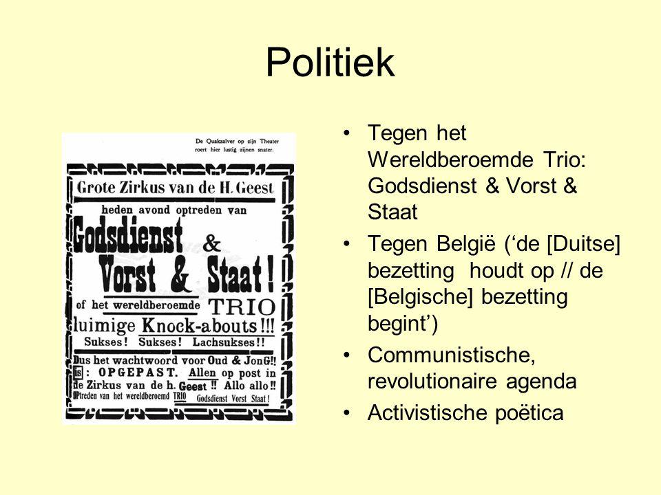 Politiek Tegen het Wereldberoemde Trio: Godsdienst & Vorst & Staat