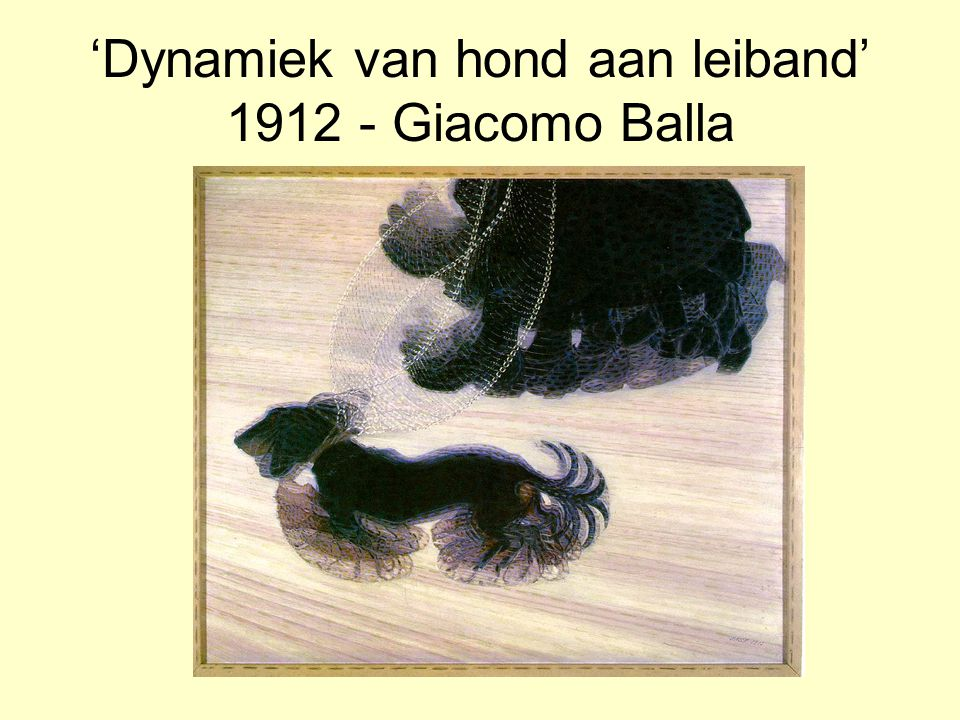 'Dynamiek van hond aan leiband' 1912 - Giacomo Balla