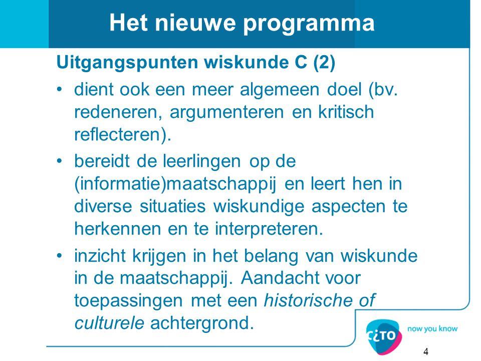 Het nieuwe programma Uitgangspunten wiskunde C (2)