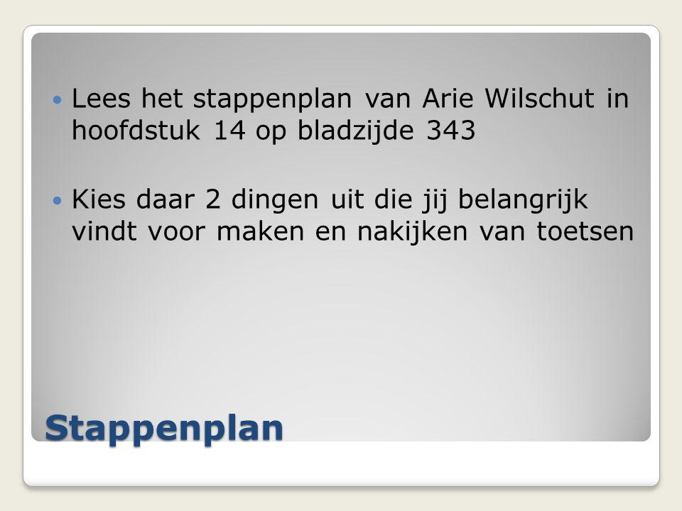 Lees het stappenplan van Arie Wilschut in hoofdstuk 14 op bladzijde 343