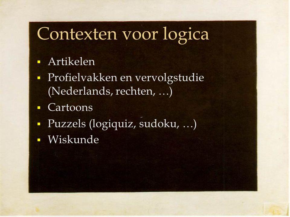 Contexten voor logica Artikelen