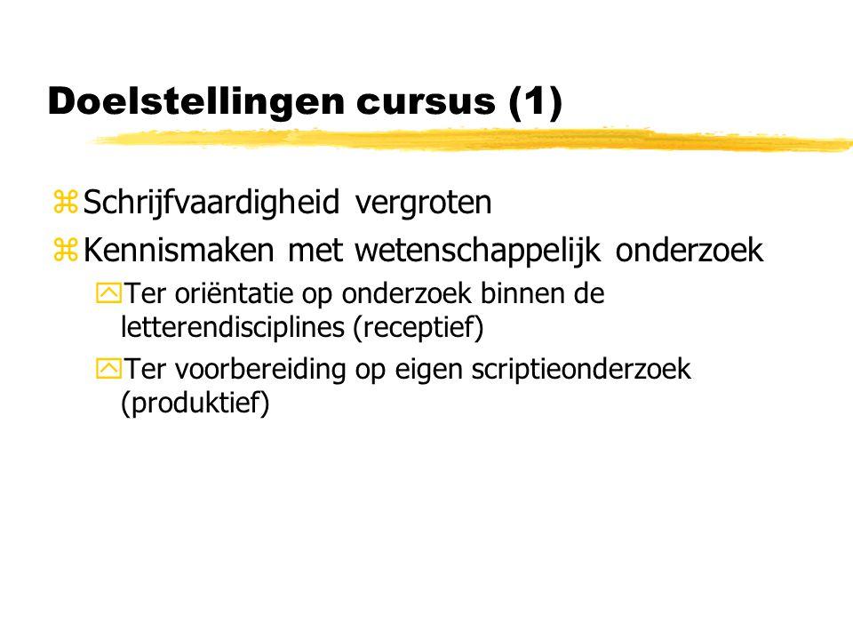 Doelstellingen cursus (1)