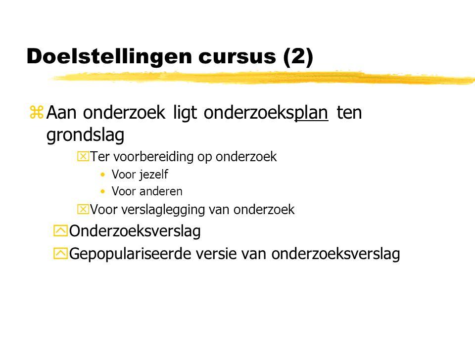 Doelstellingen cursus (2)