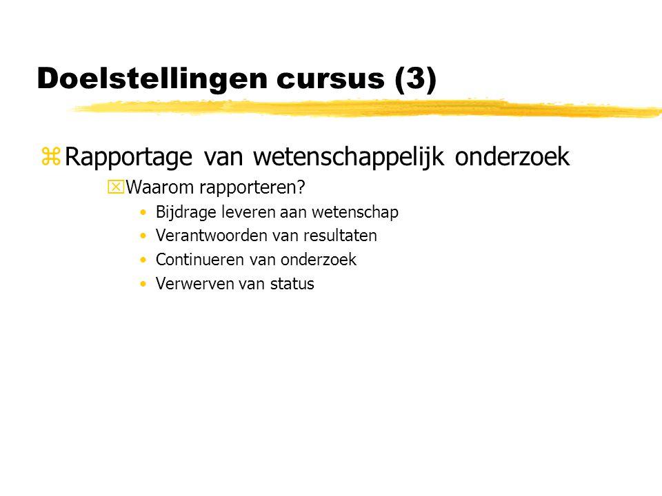 Doelstellingen cursus (3)