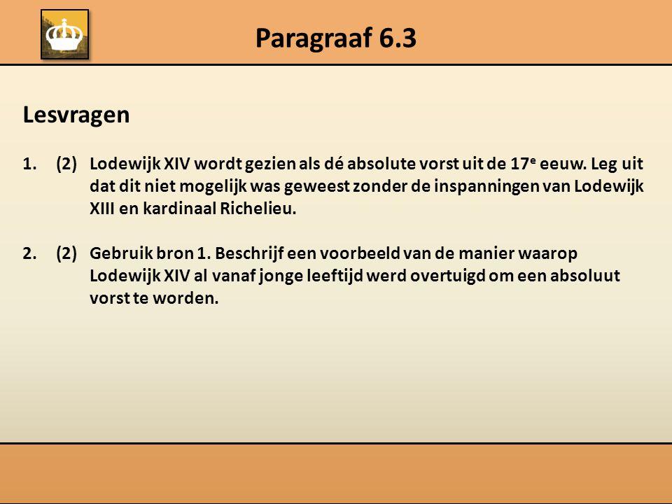 Paragraaf 6.3 Lesvragen.