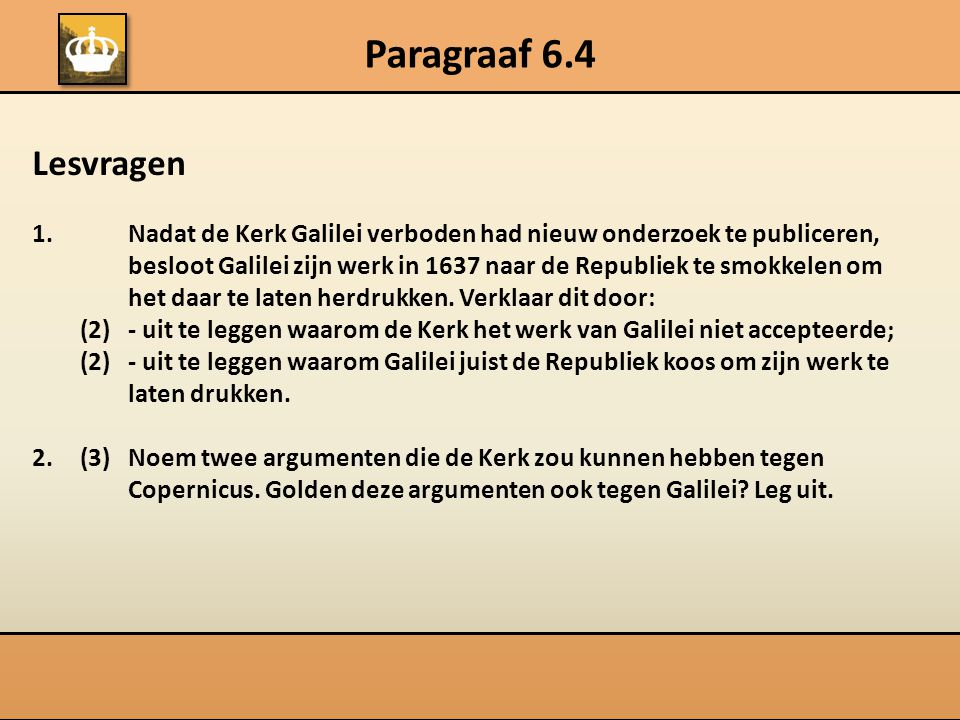 Paragraaf 6.4 Lesvragen.