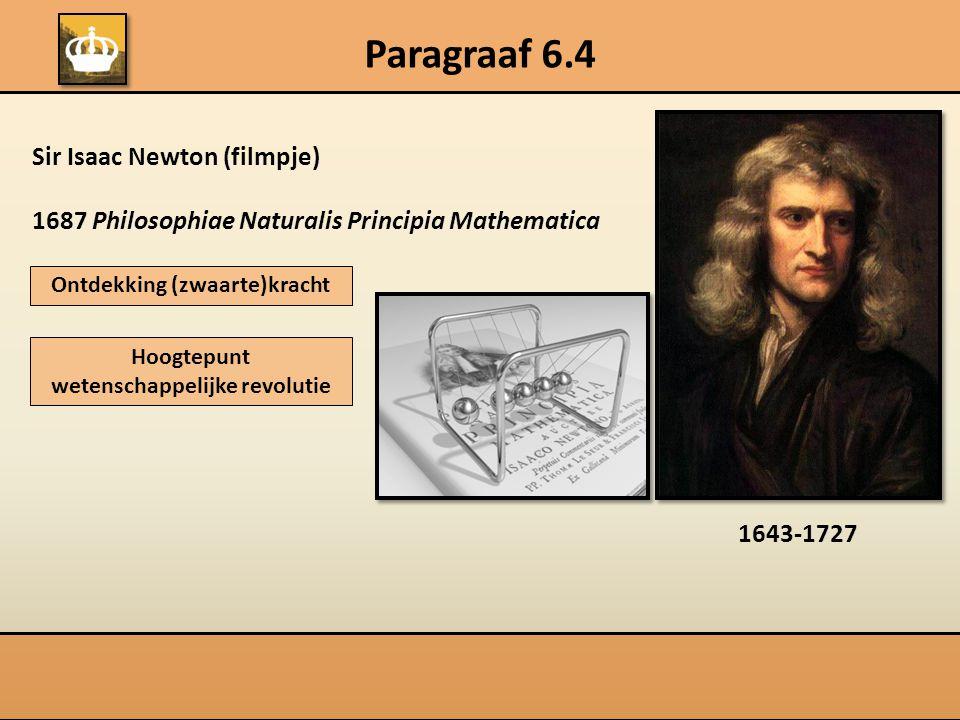 Ontdekking (zwaarte)kracht Hoogtepunt wetenschappelijke revolutie