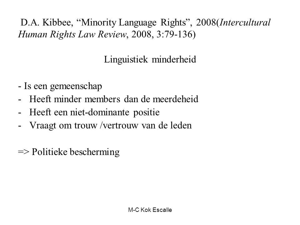 Linguistiek minderheid