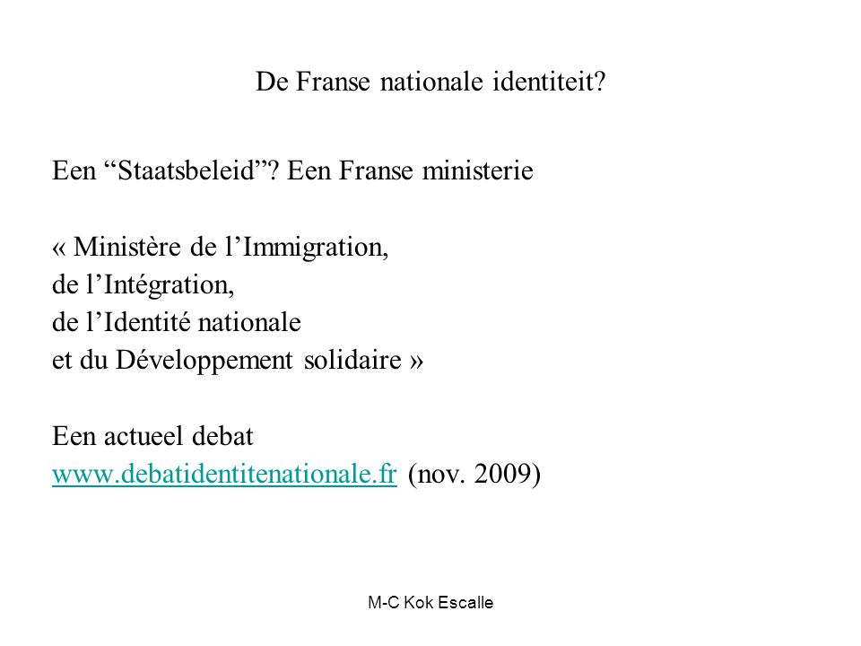 De Franse nationale identiteit