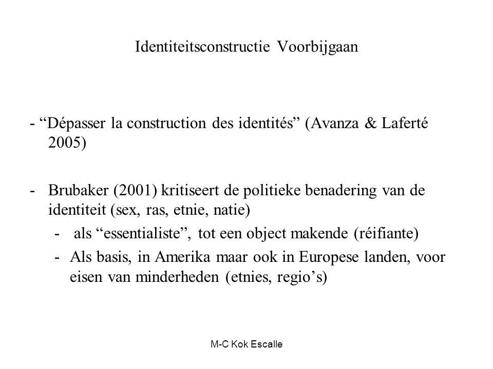 Identiteitsconstructie Voorbijgaan