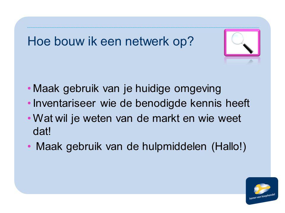 Hoe bouw ik een netwerk op