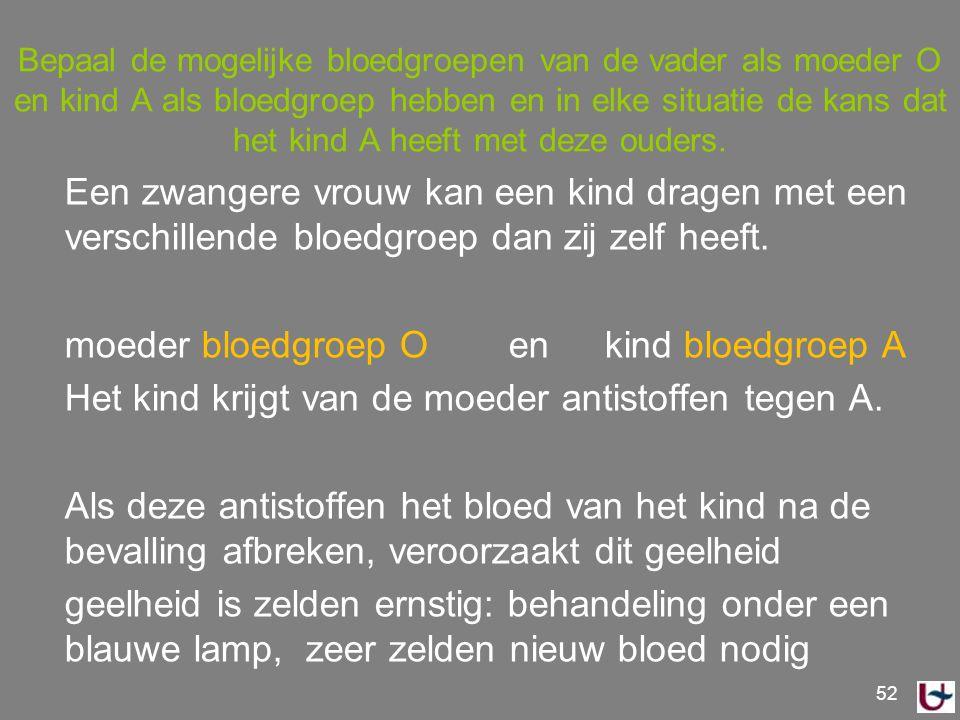 meest gangbare bloedgroep