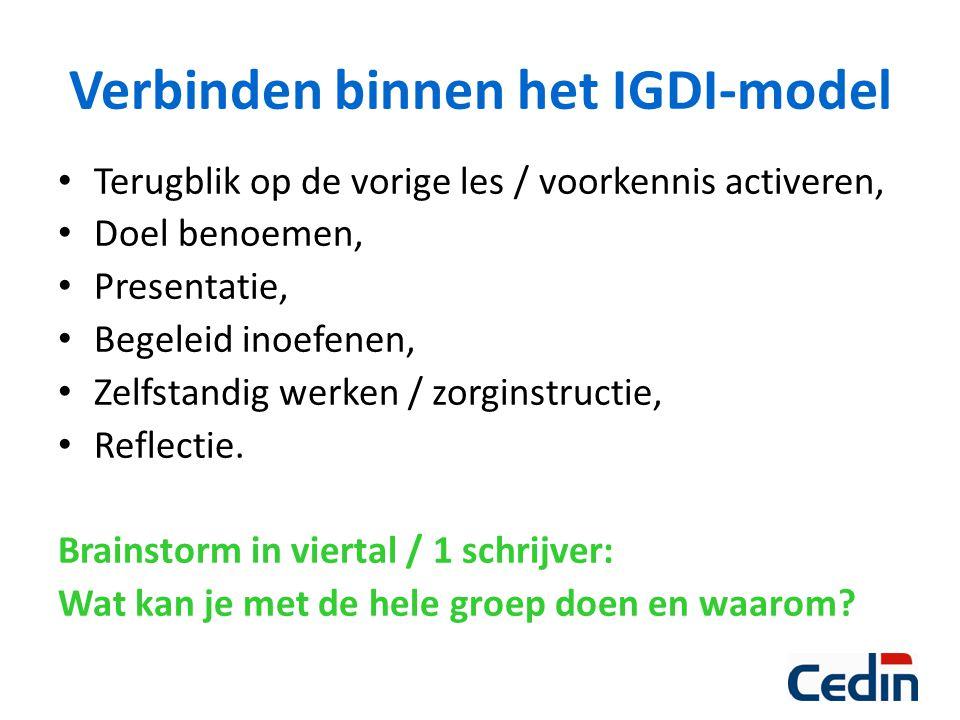 Verbinden binnen het IGDI-model
