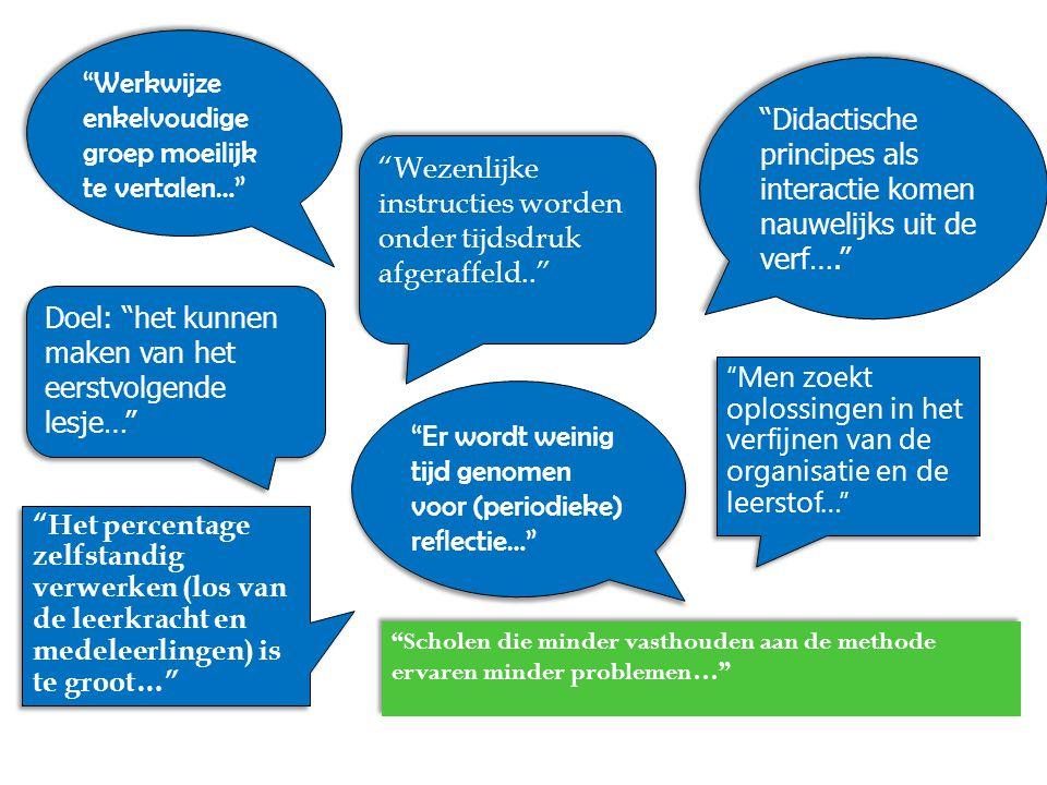 Werkwijze enkelvoudige groep moeilijk te vertalen…
