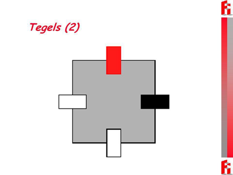 Tegels (2) Onderdeel van het ontwerp van Ivo van Hove: Een grote vierkante tegel en vier rechthoekige tegels.