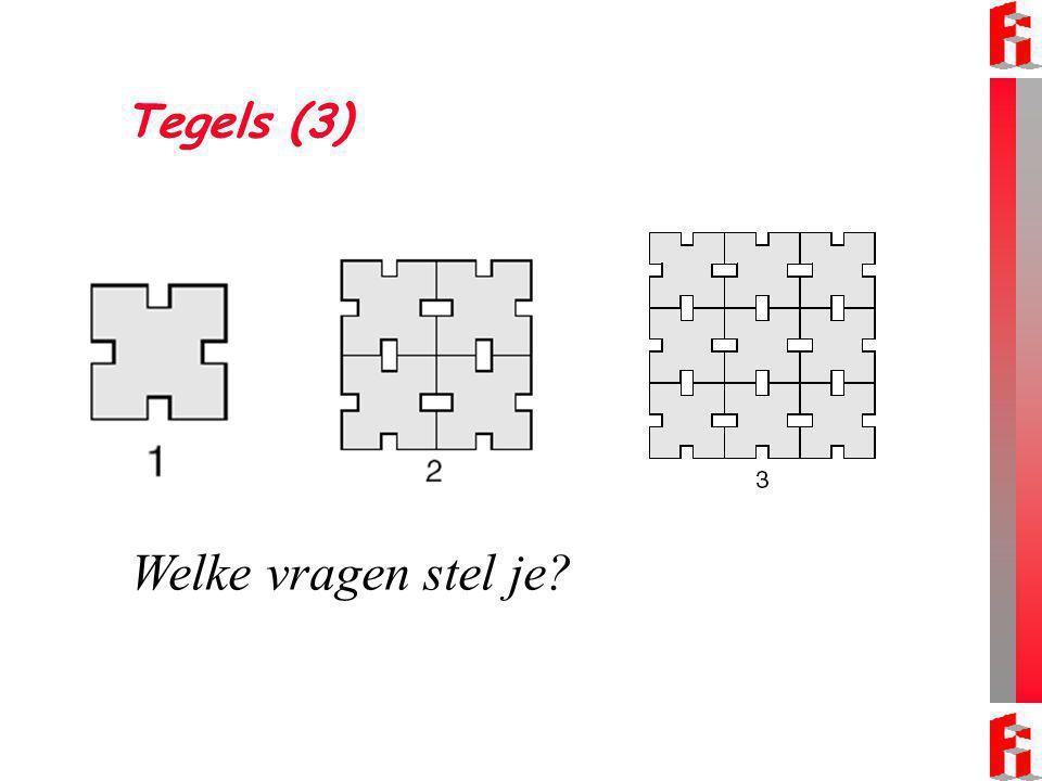 Welke vragen stel je Tegels (3) Er zijn verschillende mogelijkheden:
