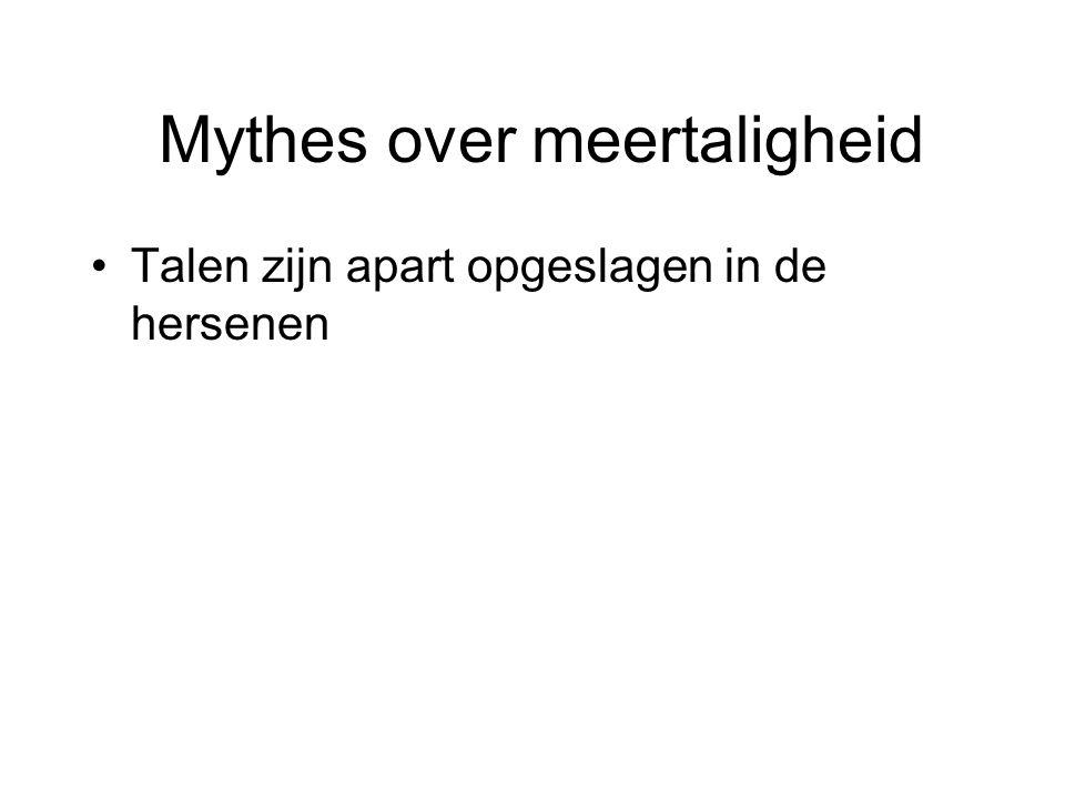 Mythes over meertaligheid