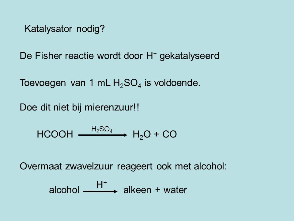 De Fisher reactie wordt door H+ gekatalyseerd