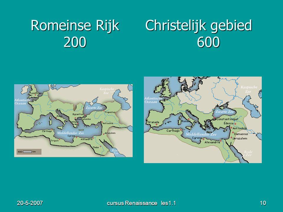 Romeinse Rijk Christelijk gebied 200 600