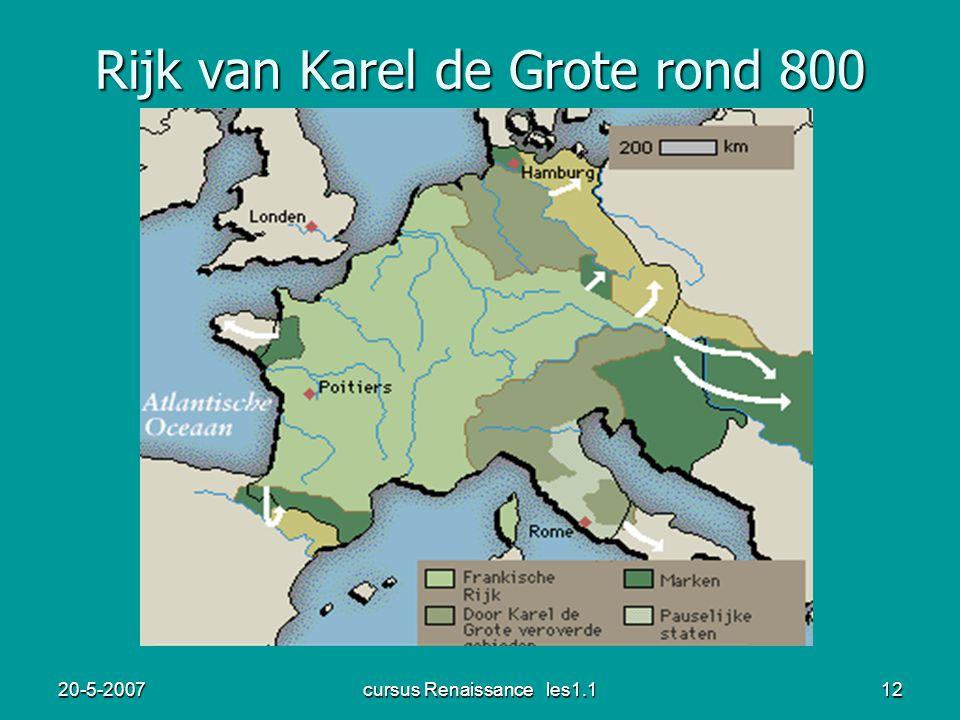 Rijk van Karel de Grote rond 800