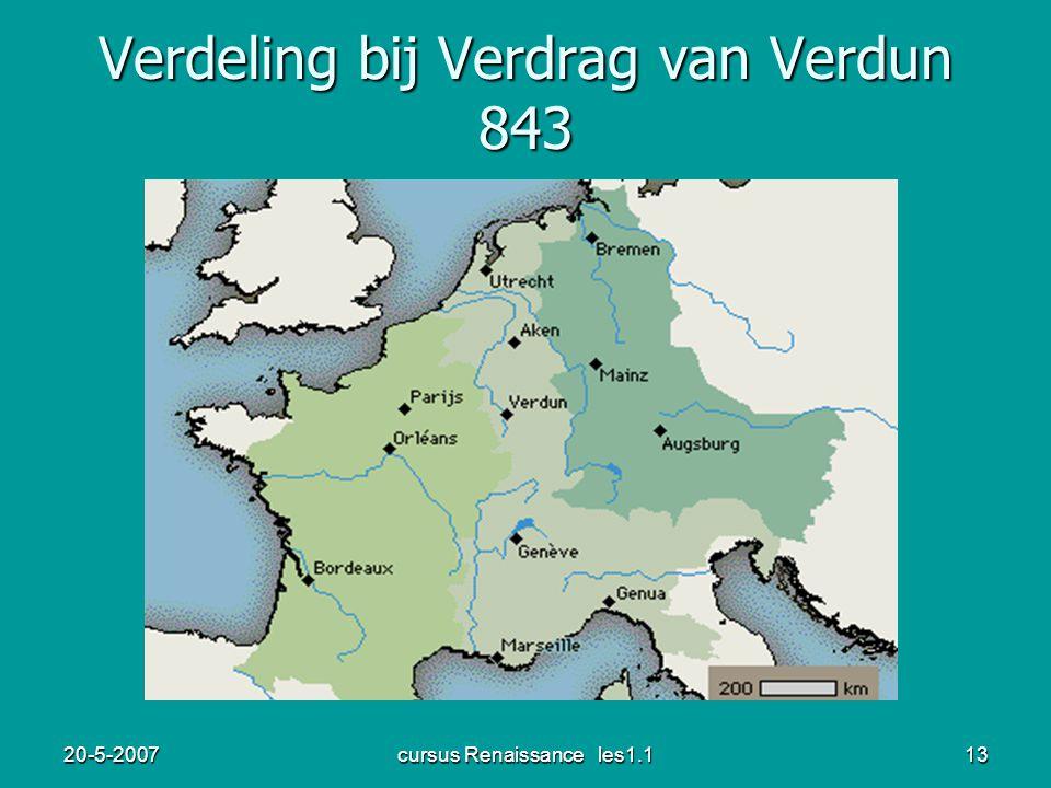 Verdeling bij Verdrag van Verdun 843