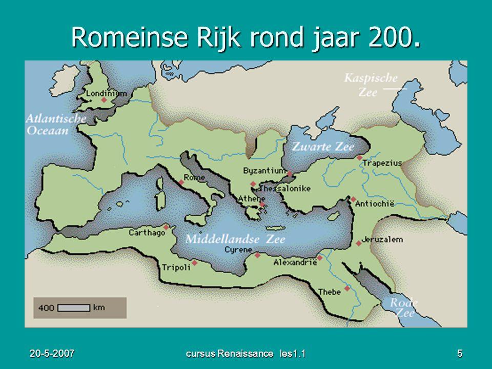 Romeinse Rijk rond jaar 200.