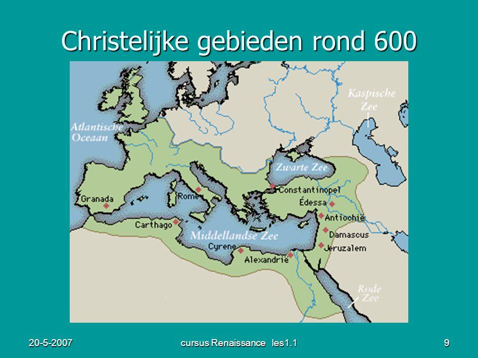 Christelijke gebieden rond 600