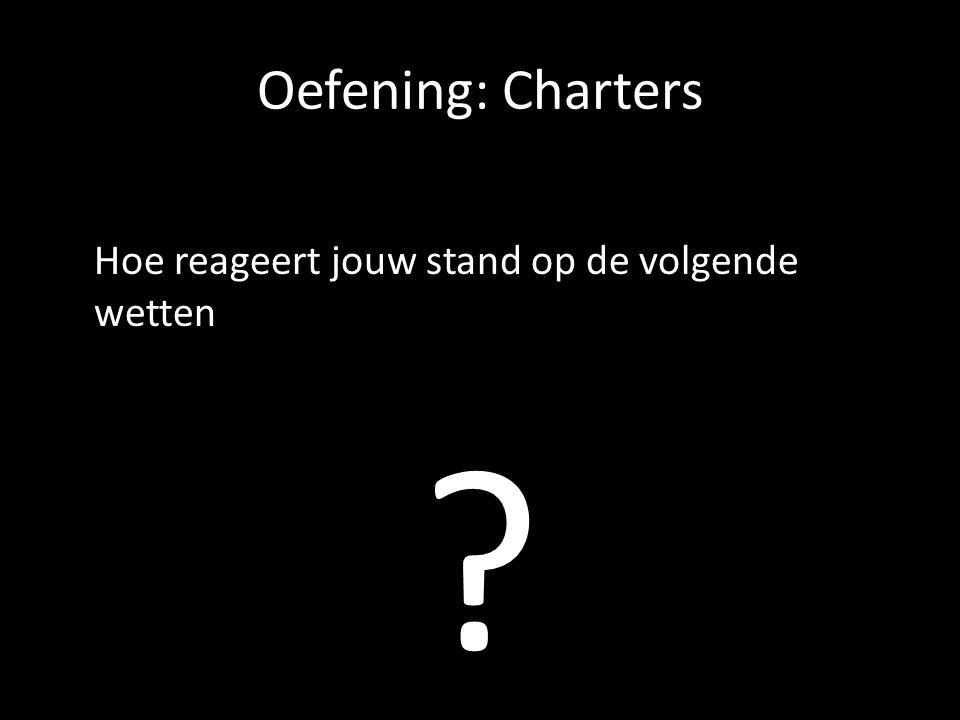 Oefening: Charters Hoe reageert jouw stand op de volgende wetten