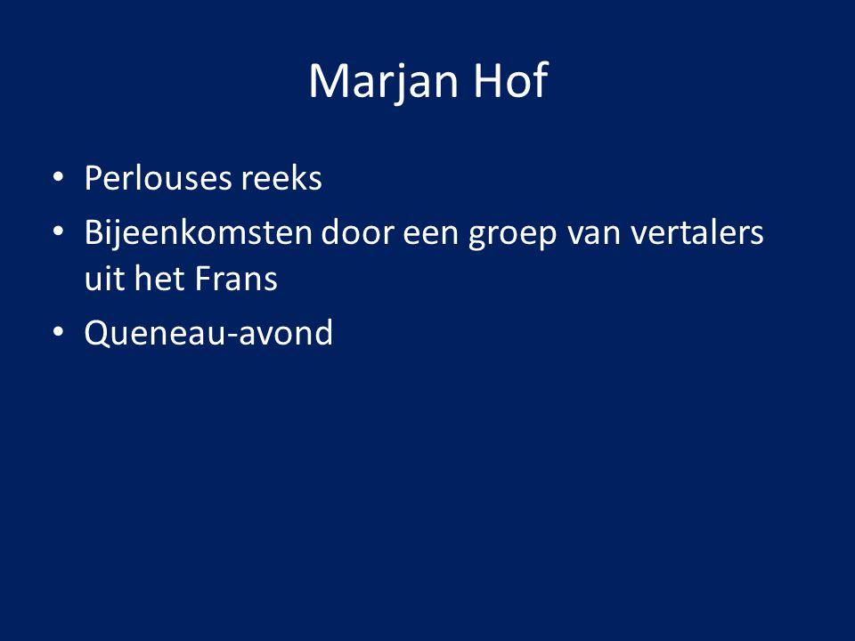 Marjan Hof Perlouses reeks